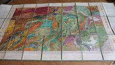 carte entoilée état major topographique et géologique détaillée du vigan gard