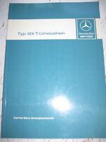 Einführungsschrift  Mercedes W 124 - T-Modelle 200 - 300 TE - 200 TD - 250 TD