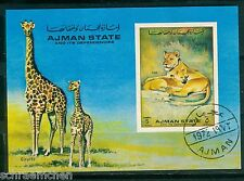 Ajman Block 364 , o , Motiv Tiere - Löwe
