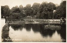 The River Wye - BAKEWELL - Derbyshire - 1941 Real Photo Postcard (136ED)