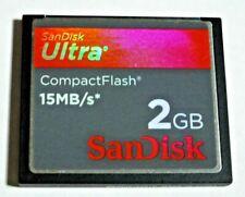 Sandisk 2GB Ultra 15MB/s SDCFH-002G CF Compact Flash Card Nikon Canon