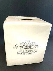 Pottery Barn Apothecary Pharmacie Apotheke French Tissue Box Holder/Cover