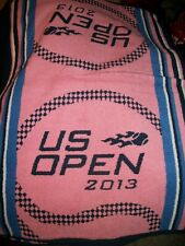 """RARE 2013 US Open Tennis Towel PINK 24""""x34"""" USTA Officially Licensed Made in USA"""