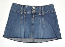 0d85fd0f95 ABERCROMBIE & FITCH Women's Blue Jean Denim Mini Skirt Pleated Sz 0 Made ...