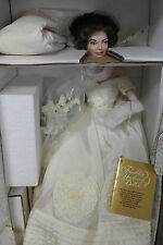 Franklin Mint Jacqueline Jackie Kennedy Wedding Bride Porcelain Doll MIB COA