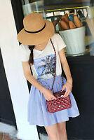 Floppy Foldable Ladies Women Straw Beach Sun Summer Hat Beige Wide Brim FG
