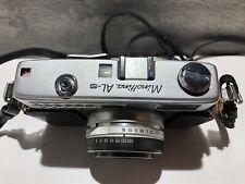 Vintage 1960s Minolta AL-S 35mm Rangefinder w/ Rokkor QF Lens 40mm f1.8