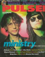 ORIGINAL Vintage March 1996 Pulse Magazine Ministry Brian Eno