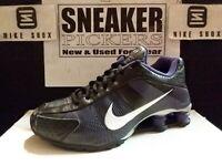 Nike Womens Shox R4 FW - 397348 005 - Black / White - Club Purple - Sz: 7.5 Rare