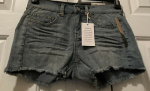 Women's/Junior's Mudd High Rise Cut-off Denim Fray Shortie Shorts Size 3 New
