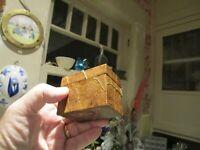 Vintage Leaf Covered Wooden Trinket Box