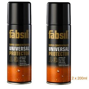 2 x Extra Strength Fabsil Gold Clothing Tent Spray Fabric Waterproofing 200ml