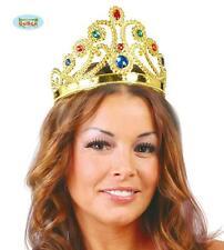 Carnevale Halloween Corona da Regina Queen Crown dorata GUIRCA
