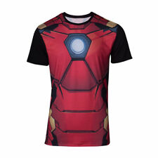 Official MARVEL COMICS  Iron Man Suit T SHIRT Costume Cosplay Sublimation Print