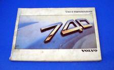 Volvo 740 Berlina SW 2.0 2.3 Turbo 2.4 D e TD Libretto Uso e Manutenzione 1988