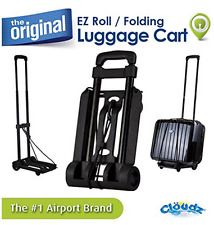 Cloudz EZ Roll Luggage Cart, Extra Strong, Heavy Duty Wheels, Easy Open & Close