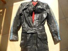 Motorrad Kleidung, Overall, Combi, Leder, schwarz, Gr. 38, Damen