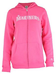 Outerstuff MLB Youth Girls (7-16) Seattle Mariners Shutout Full Zip Hoodie, Pink