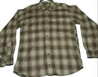 Burberry Mens London Classic Nova Button Down Long Sleeve Shirt Check Plaid  M