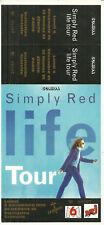 RARE / TICKET BILLET DE CONCERT - SIMPLY RED : LIVE A PARIS ( FRANCE ) 1995