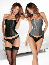 Beautiful Tesa Everyday Corset. Black or Silver with Soft Boning, Side Zip.