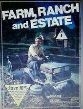 Sears 1985 Suburban-Farm Catalog FULL COLOR Garden Tractor 64p Tools Tiller GT18