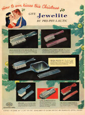 1948 vintage Christmas AD JEWELITE BRUSHES COMBS by Pro-phy-lac-tic 011418