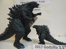 """Bandai Japan 2017 Godzilla  7"""" + 3.5"""" 2017 Godzilla Vinyl Figure (Set of 2)"""