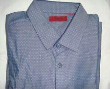 BNWT Alfani Mens Textured Slim Button Up Shirt.  Size L