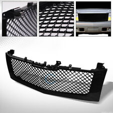 GLOSSY BLK MESH FRONT HOOD BUMPER GRILL GRILLE COVER ABS 02-06 CADILLAC ESCALADE