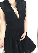 ARMANI EXCHANGE WOMENS DRESS NWT RAYON BLACK BUTTONS ZIP SZ 8