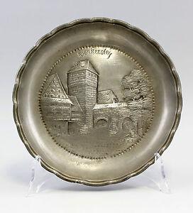 99833114 Reliefteller Nürnberg 1.H.20.Jh. Henkersteg D22cm