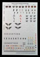 40K Knights Armiger Transfer Sheet Imperial Warhammer Decals Warglaive Helverin