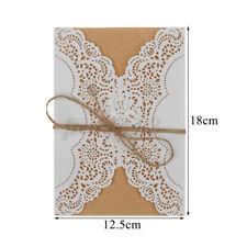 20X Wedding Invitation  Kits with Envelopes Laser Cut Birthday Greeting  J