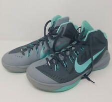 Nike Hyperdunk Basketball Shoe 653640-030 Gray Turquoise High Top Size 11 2014