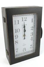 Vintage Finish Hallway Wall Clock, Suitcase Key Cabinet