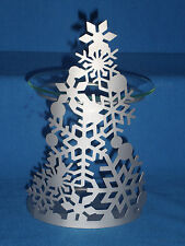 Partylite Snowflake Fragrance Silver Christmas Tree Warmer