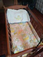 New ListingVintage Wooden Spindle Baby Cradle Crib Rocker Glider Bassinet Portable Crib