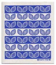 NEW Blue Leaves Design Eco Friendly Kitchen Dishcloth