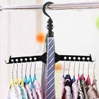 Folding Dual Clothes Hanger Hook Coat Rack Wardrobe Magic Organizer Save Space