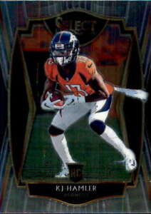 2020 Panini Select #167 KJ HAMLER RC Premier Level Denver Broncos