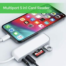 Lightning to TF SD Card Reader Camera USB OTG Adapter Charger for All iPhone