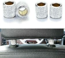 💎4Pcs Bling Diamond Car Seat Headrest Collar Rhinestone Car Decor Gifts 💎