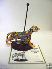Tiger Franklin Mint Treasury of Carousel Art Collection Porcelain Figurine