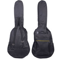 "New 41"" Nylon Padded Acoustic Guitar Soft Case Gig Bag Backpack Black"
