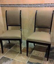 KINDEL FURNITURE Black & Gold Regency Sleigh Back Side Chair Green/Gold 75-072