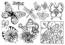 Unmounted Rubber Stamps Sheets, Butterfly, Butterflies, Dragonfly, Nature Stamps