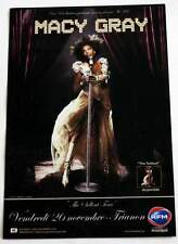 Flyer MACY GRAY Concert FRANCE Paris Trianon 20/11/2010 * Not a Ticket