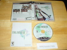 FINAL FANTASY XIII (13) game complete in case w/ manual - Sony Playstation 3 PS3