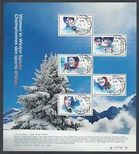 2018 Women in Winter Sports Souvenir Sheet First Day Cancel